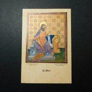 アンティーク ホーリーカード  聖マルコ キリスト教 聖人