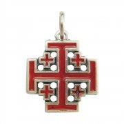 エルサレム クロス レッドエナメル 十字架 ペンダント イタリア製