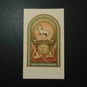 アンティーク ホーリーカード 神の子羊 智天使