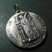 聖バルバラ アンティーク メダイ ラウンド