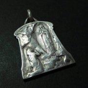 ルルドの聖母 マリア アンティーク シルバー メダイ