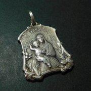 フルヴィエールの聖母 マリア アンティーク メダイ