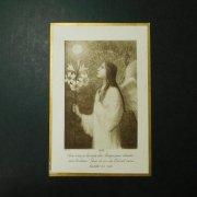 アンティーク ホーリーカード  百合の花を持った天使