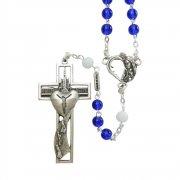 ファティマの聖母 100周年記念 ロザリオ  ブルーガラスビーズ  イタリア製