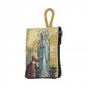 ロザリオ ポーチ ルルドの聖母と聖堂 小物入れ ケース