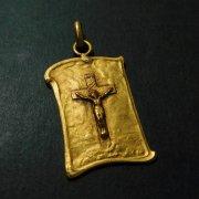 キリストの磔刑 十字架 アンティーク メダイ ペンダント