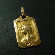 聖母マリア ゴールド メダイ アンティーク ペンダント