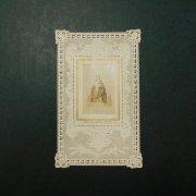 アンティーク ホーリーカード  レース 聖母子