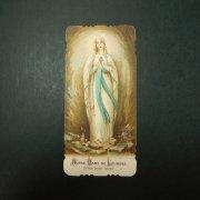 アンティーク ホーリーカード  ルルドの聖母