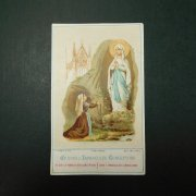 アンティーク ホーリーカード  ルルドの聖母 聖ベルナデッタ
