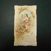 アンティーク ホーリーカード  天使と聖杯と花