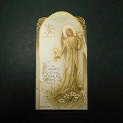 アンティーク ホーリーカード   天使 聖杯 百合の花