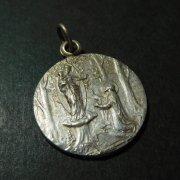 聖モリーユ 聖母の出現 マウリリウス アンティーク メダイ ペンダント