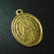 聖母マリア 教皇レオ13世 アンティーク メダイ ペンダント