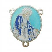 無原罪の聖母  カラーエナメル ロザリオ センターメダイ パーツ イタリア製