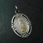 ルルドの聖母 アンティーク シルバー メダイ