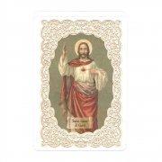 ホーリーカード レース 聖心を指すイエス・キリスト イタリア製