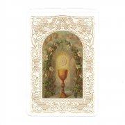 ホーリーカード レース 聖体拝領 聖杯 イタリア製