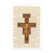 ホーリーカード レース キリスト磔刑十字架 イコン イタリア製