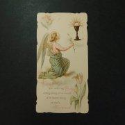 アンティーク ホーリーカード  天使と聖杯 チューリップ