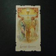 アンティーク ホーリーカード  二人の天使と聖杯