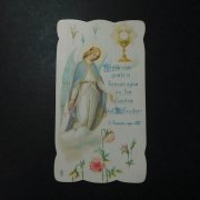 アンティーク ホーリーカード  天使と聖杯と薔薇