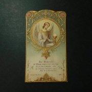 アンティーク  ホーリーカード   天使と聖杯 1911