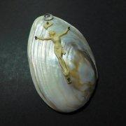 キリストの磔刑 貝殻 壁掛け アンティーク ヴィンテージ