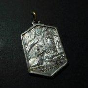 ルルドの聖母 メダイ  アンティーク 六角形
