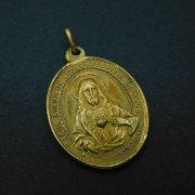 キリストの聖心 聖母マリアの御心 メダイ  アンティーク