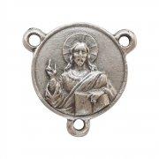 イエスキリスト 悲しみの聖母 ロザリオ センターメダイ アクセサリーパーツ イタリア製