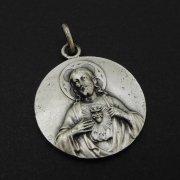 聖心を指すイエスキリスト サクレクールの聖母 ヴィンテージ メダイ