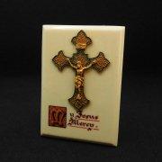 エナメル十字架の置物 アンティーク