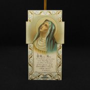 アンティーク ホーリーカード 聖母マリア クロス