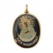 慈悲の聖母 メダイ エナメル イタリア製
