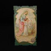 アンティーク ホーリーカード  聖母