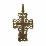線細工 十字架  クロス ペンダント  ブロンズ