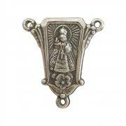ロザリオ センターメダイ ◆ プラハの幼子イエス (シルバー) アクセサリーパーツ
