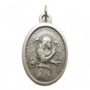 大天使ガブリエル メダイ 百合 受胎告知 ◆ 妊娠出産・伝達の守護天使 イタリア製