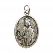 聖バルバラ メダイ ◆ 建築家・消防士・雷の守護聖人 イタリア製