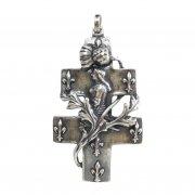 ジャンヌ・ダルク ロレーヌ十字架  クロス ペンダント シルバー