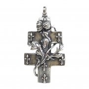 ジャンヌ・ダルク ロレーヌ十字架  クロス ペンダント シルバー 日本製