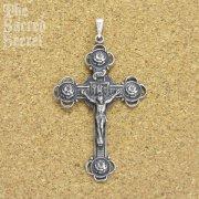 4つ薔薇の十字架 クロス ペンダント  シルバー