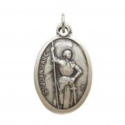 聖ジャンヌ・ダルク メダイ ◆ 軍人・篤信故に嘲笑される人々の守護聖人 イタリア製