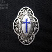 十字架と聖心のアンティークロケットメダイ