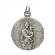 カルメル山の聖母と聖心を指すイエスキリスト メダイ ドイツ製