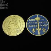 フランスの守護聖女ジャンヌ・ダルクの生誕600年記念メダル