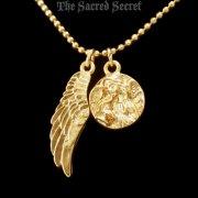 天使のメダイと羽 ゴールド ペンダント ネックレス ヴァチカンライブラリーコレクション