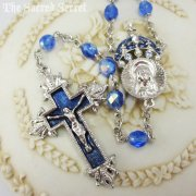 聖母の王冠のブルービーズ ロザリオ ヴァチカンライブラリーコレクション