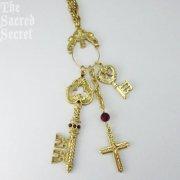 天国の鍵と十字架 ペンダント ネックレス ヴァチカンライブラリーコレクション